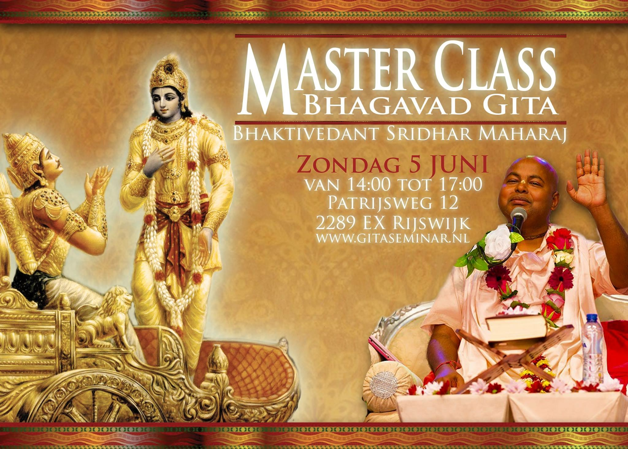 Citaten Uit Bhagavad Gita : Masterclass met sripad bv sridhar maharaj juni